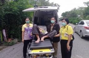 ทัณฑสถานโรงพยาบาลราชทัณฑ์ ได้ส่งตัวผู้ต้องขังป่วยพ้นโทษไปอุป ...